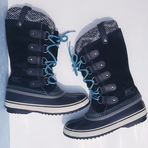 Sorel Artic Boots Black Suede Waterproof 7.5